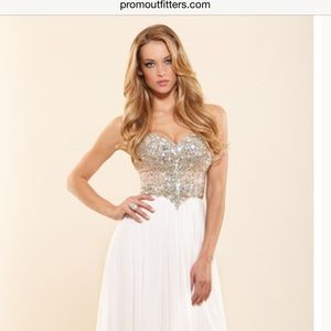 Authentic Terani Couture evening gown/prom/wedding